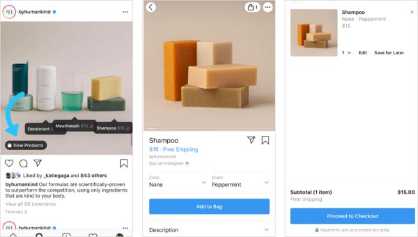 Instagram Shop οδηγίες